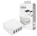 Wholesale OEM 5V 5A KC Approval 4 USB Port USB Wall desktop charger