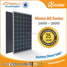 High Tech 280W mono pv panel for solar home appliances | pv panel