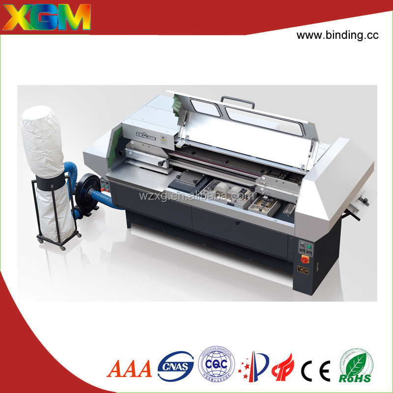 three clamps manual cover feeding book binding machine