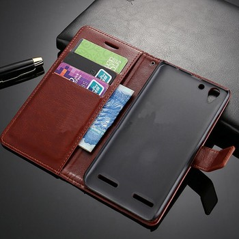 Premium PU Leather Flip Wallet Case Cover For Lenovo Vibe K5