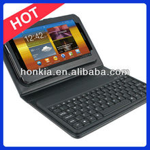Wireless Bluetooth Keyboard with Leather Case for Galaxy Tab 7.0inch P3100, 6200