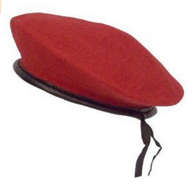 100% Wool Customized Ceremonial Beret Military hat