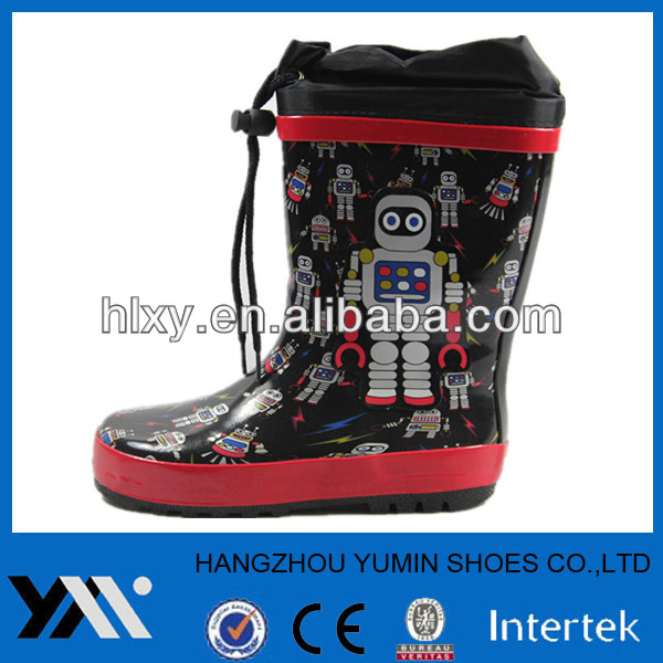 Environmental protection rubber Rain Boots for kids