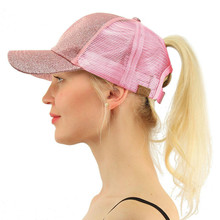 Cheap Branded Baseball Caps 6 Panel Women Mesh Cotton Plain Distressed Ponytail Custom Baseball Cap From China
