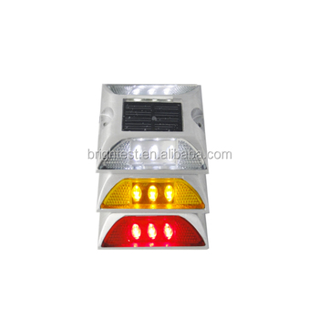 8 leds traffic round solar road stud Yellow/Green/Blue/ White/Red Flashing light