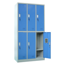Yoga Service Closet Furniture Locker Room System 6 Door Yoga Mat and Wear Metal Cheap Wardrobe Closet