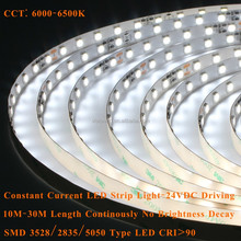 24VDC constant current type 10M to 30M continuous length flexible led light strip