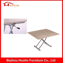 China Functional Movable Extendable Square Design Wooden MDF Table Furniture