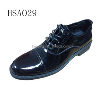 CY,European quality patent leather uniform slip resistant men military shoes for office