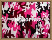polyester camouflage pattern printed polar fleece fabric