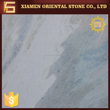 azul cielo white marble stone with blue veins for wall decoration