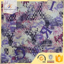 2017summer Alibaba china guangzhou factory jersey fabric snake kin mix letters pattern printing fabric