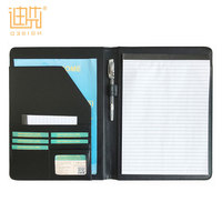 2018 expandable executive pu leather portfolio conference folder with card folder