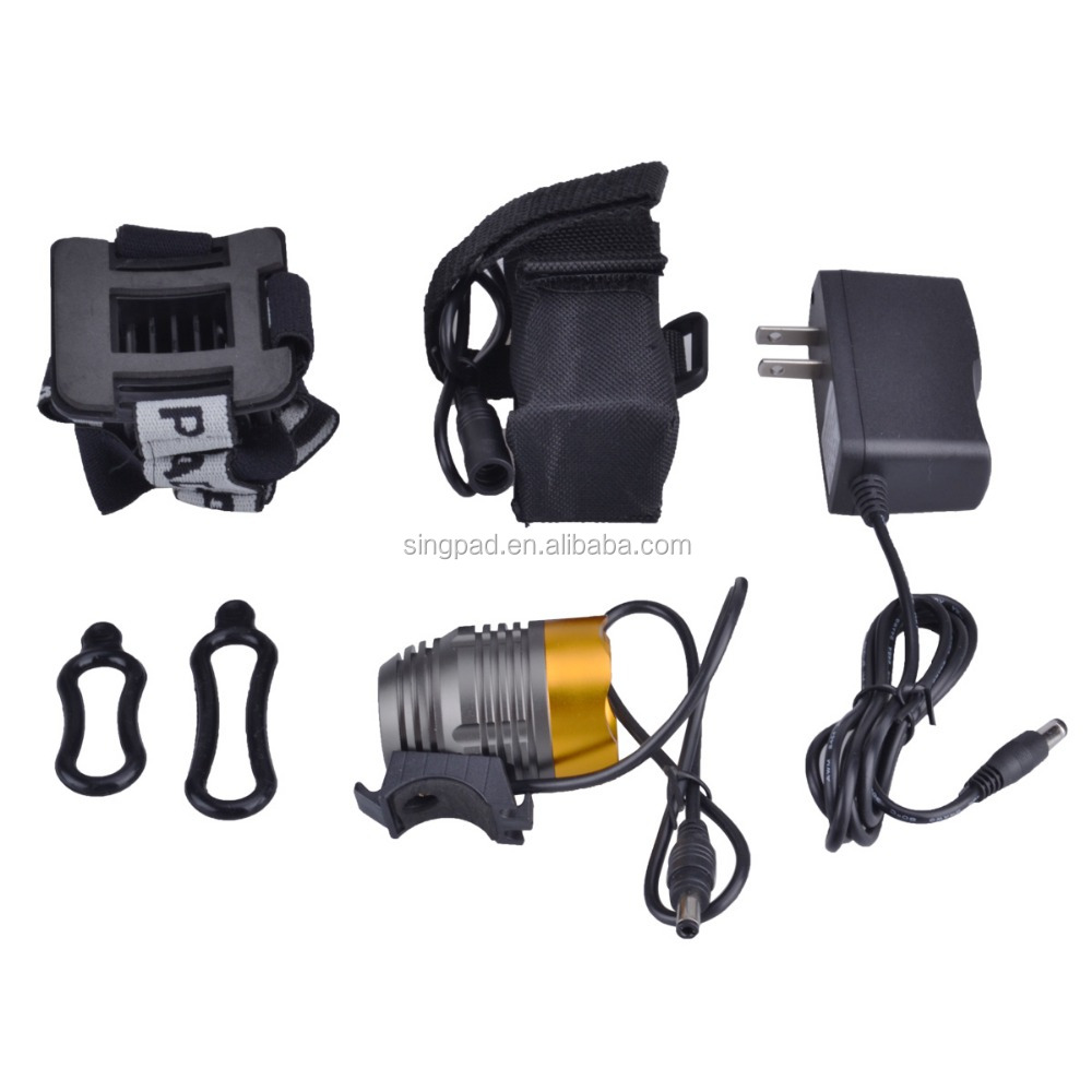 4.2v/8.4v led t6/<strong>u2</strong>/u3 waterproof led rechargeable bike light and headlamp
