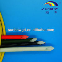 Flame retardent 7KV Heat and cold resistance silicone coated woven fiberglass sleevings