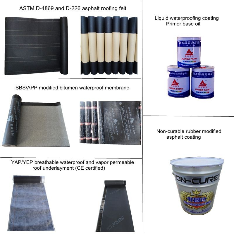 ASTM D-4869 15# 30# and ASTM D-226 15#30# asphalt roofing felt