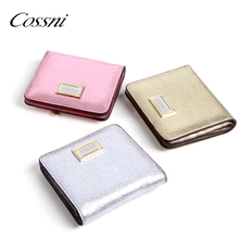 Mini coin purse metal rose gold wallets short purse fashion elegant clutch purse