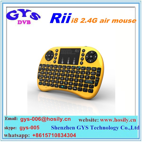 fartory original 2.4Ghz Rii Mini i8 wireless keyboard air mouse with touchpad for Tv Box