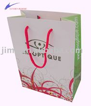 white art paper glasses promotional bag,glasses packaging bag