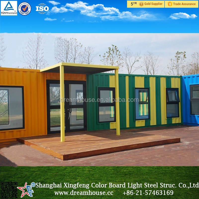 prefab shipping container cabins/modern kit hotel/prefabricated container hotel house
