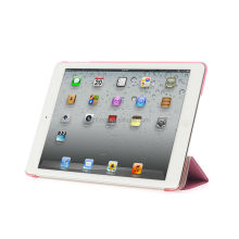 Hot selling standing custom PC base PU cover hard shell cover case for ipad air case for ipad mini case Rose