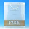 Fashion shopping bags Recyclable shopping Clear Plastic Carrier Bag Gift bag with Handles