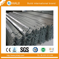 Corrugated Steel beam Highway Guardrail AASHT M180 Standard