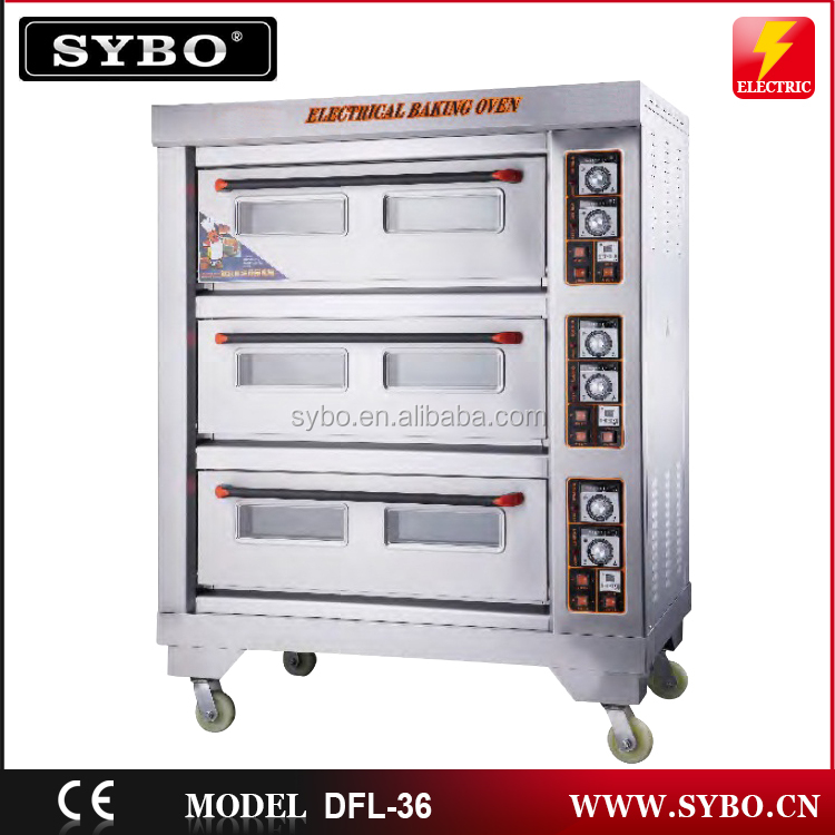 Profesional 3 Decks industrial electric baking oven