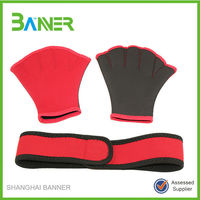 Neoprene swimming gloves swim gloves webbed