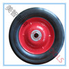 6X1.5 solid rubber wheel with 12.1 /12.7mm bearing