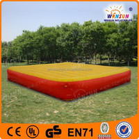 Commercial grade inflatable jump air bag for skiing