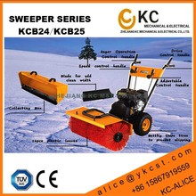 Roller street cleaning machine with changable snow thrower auger load