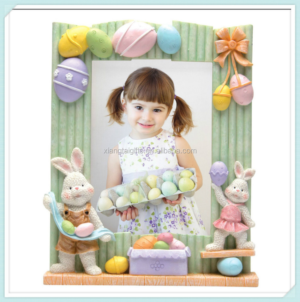 Easter bunny decoration resin picture frame