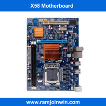 China wholesale 1600 1333 1066 memory X58 chipset lga1366 computer motherboards and processors