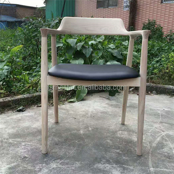 Leather quality home use wooden dining Hiroshima leisure <strong>chair</strong>