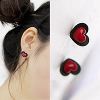 RS-ZN0155 New fashion pure twin heart earring lovely syud earringsWholesale Love Earrings for girls