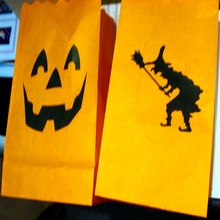 Happy halloween candle bags luminaries