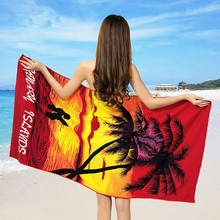 Custom microfiber fabric reactive printed beach towel,high quality beach towel for Australia