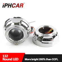 IPHCAR Easy Install 3 inch Hid Projector Auto Headlight retrofit Led Angel Eyes Projector Lamp