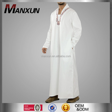 Middle East Clothing Muslim Abaya White Thobe Jubah Dubai Arabian Baju kaftan Men 2017