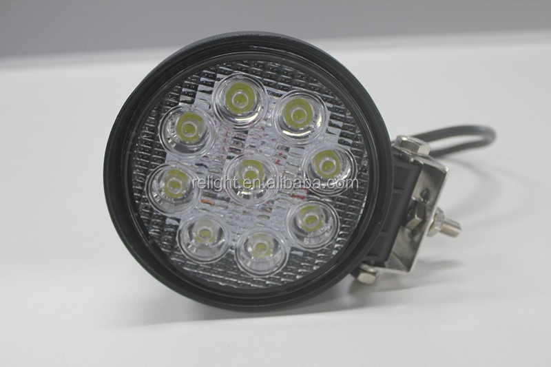 high quality 27w led work light, 9pcsx3w high intensity Epsitar LEDs car led lighting