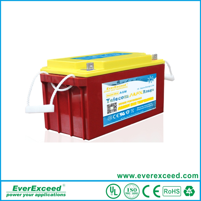 2016 EverExceed agm 12v 250ah used telecom batteries