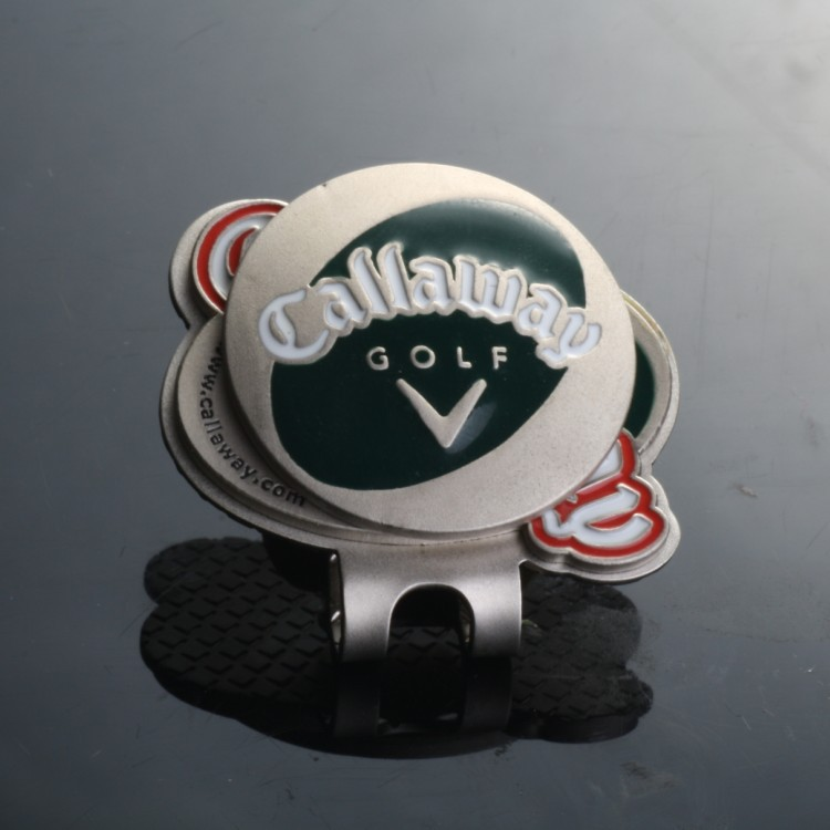 Promotional Magnetic Golf Cap Clip Ball Marker ,Hat Clip with Ball Marker OEM