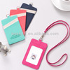 leather id card holder with id window, colorful leather holder