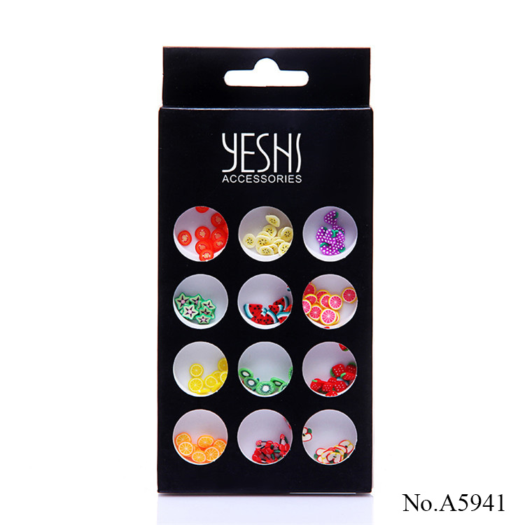 A5941 Nail Art 3D Fruit Fimo nail stickers Polymer Clay DIY Decoration Nail Beauty