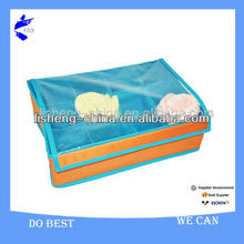 Polyester Fabric Sock Folding Storage Box With Lid