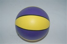 2014 new style 6' Wholesale rubber mini basketball 1# for kids