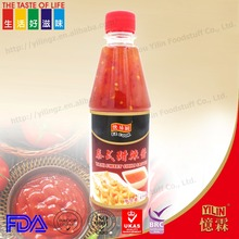 Superior 435ml plastic thai sweet chili hot pepper sauce dipping sauce