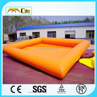 CILE Yellow Color Adult Size Sporting Inflatable Pool Float Island with Nice Quality for Water Ball