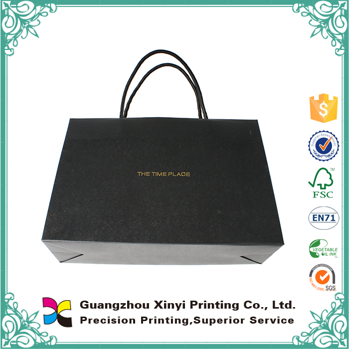 Recyclable advertisement Boutique Cloth Paper Shopping Bags